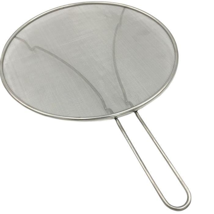 Outil de cuisson pour poêle poêle couvercle inox pratique Portable anti-éclaboussures écran anti-graisse - Modèle: - WMCFXGJA08709