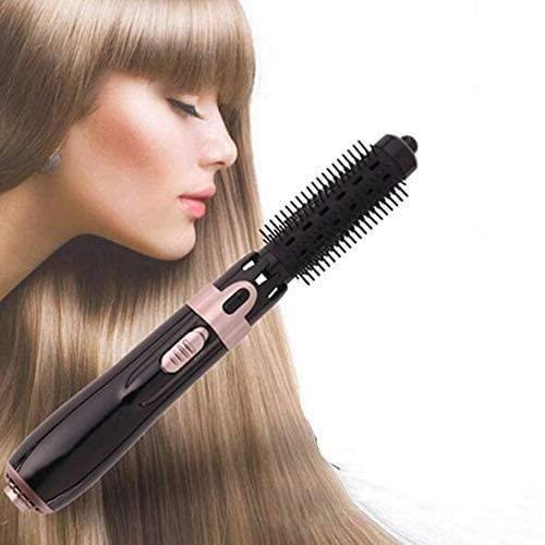 Brosse Soufflante Rotative, 4 in 1 Sèche-Cheveux Brosse Lissante Chauffante Electrique Multifonctionnels Fer À Friser pour Femm[471]
