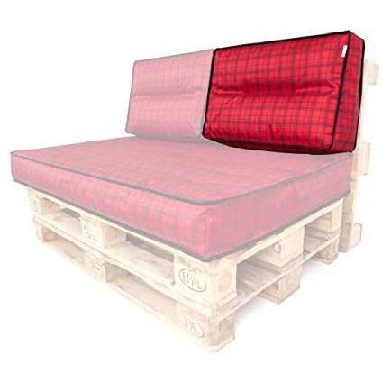 Coussin de chaise de jardin Coussin pour palette - Dossier - 60 x 40 cm - Housse amovible - Imperm&eacuteable - Coussin pour pa98