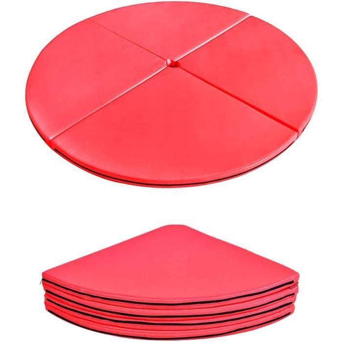 Round Pliant Pole Dance Crash de Yoga Portable Tumbling Exercice deacutetirement Fitness Mat AntiGlissant Surface Rouge160 33