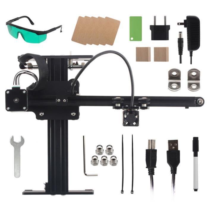 AYNEFY Graveur laser pour machine de gravure laser Neje Master 7W disponible pour sculpter le métal US 110-240V