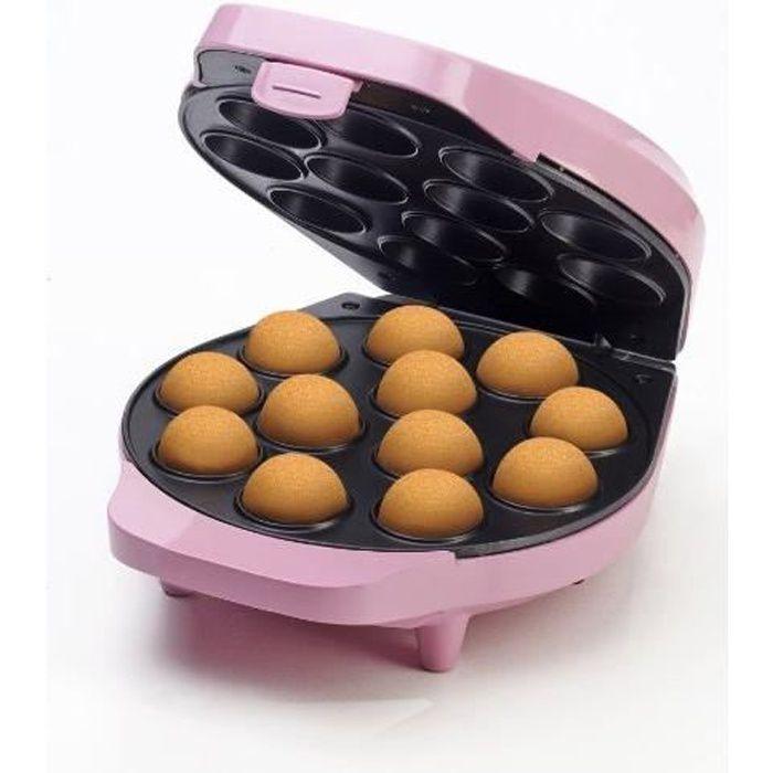 Bestron Appareil à cake-pops au design rétro, Sweet Dreams, Revêtement antiadhésif, 700 W, Rose DCPM12