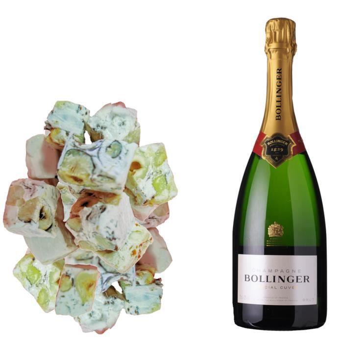 Assortiment Champagne Bollinger - Spéciale Cuvée Brut & 150g de Nougadets Noisette - Jonquier Deux Frères