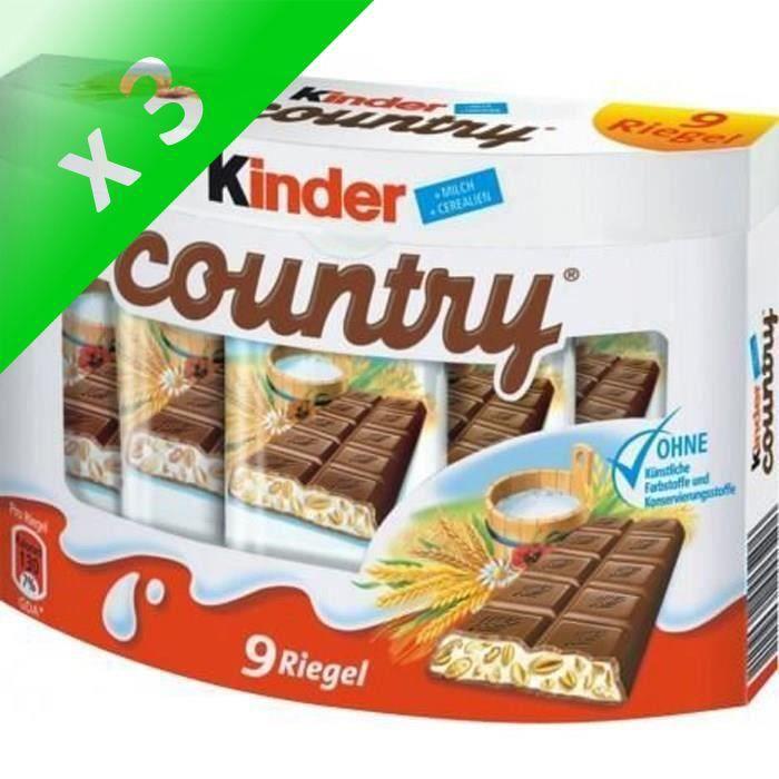 [LOT DE 3] Kinder country 211 g Kinder