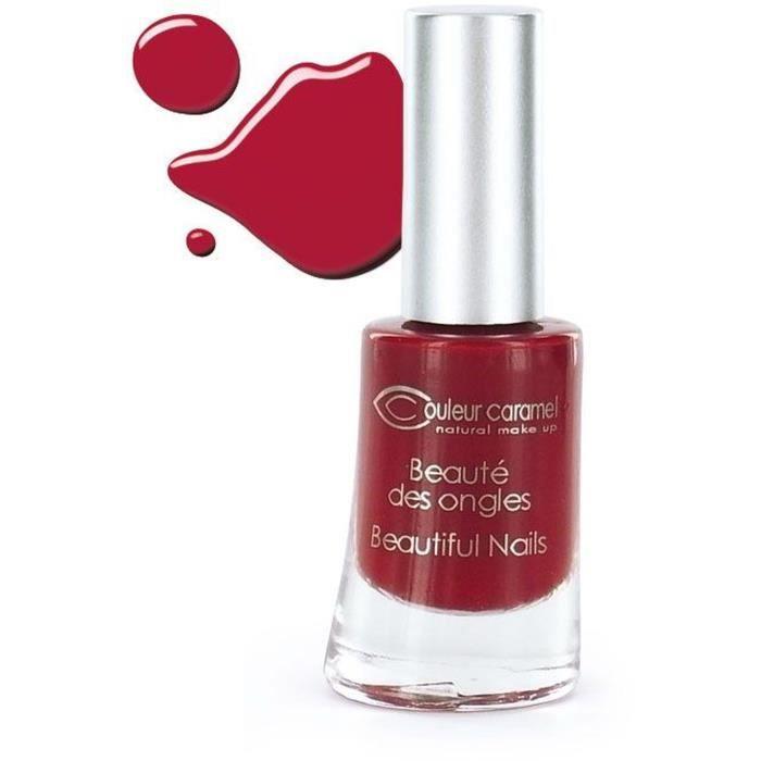 COULEUR CARAMEL Vernis n°08 - Rouge mat 8ml
