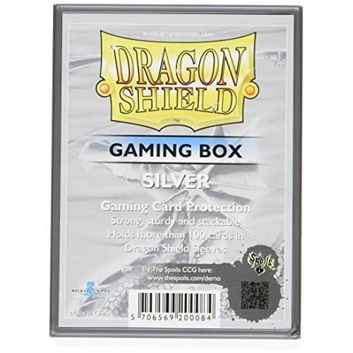Dragon Shield Card Gaming Box Silver