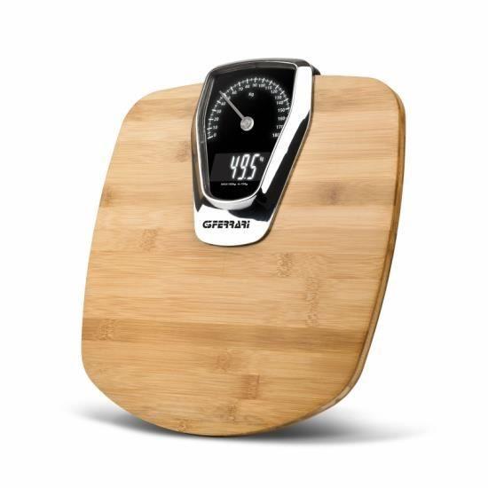 FORMULA ELEGANCE - Pèse-personne Analogique Bambou + Chiffre Electronique 100gr - 180kg