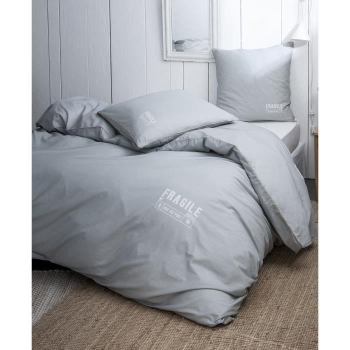 TODAY Parure Cabane de Plage Fragile 100% coton - 220x240 cm