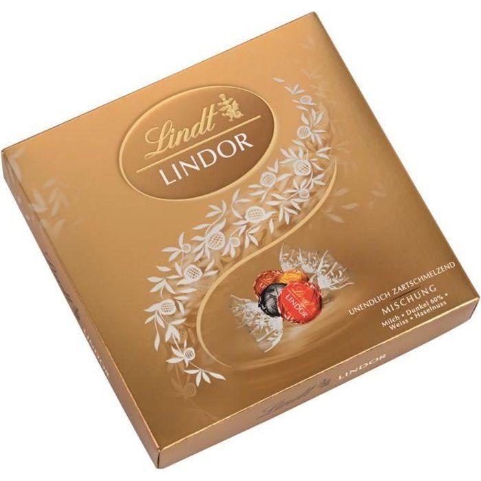 Lindt Lindor Pralines Chocolat mélange Boîte cadeau 187g