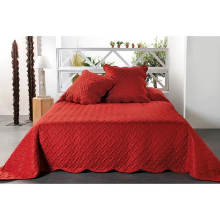 Couvre-lit Californie Rouge 250x260