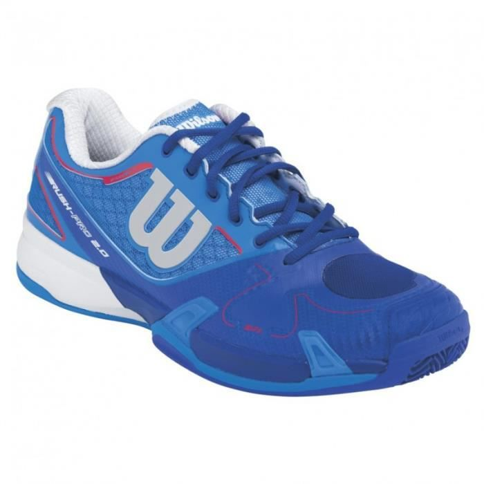 Chaussures WILSON Homme Rush Pro 2.0 Terre Battue Bleu / Rouge PE 2015