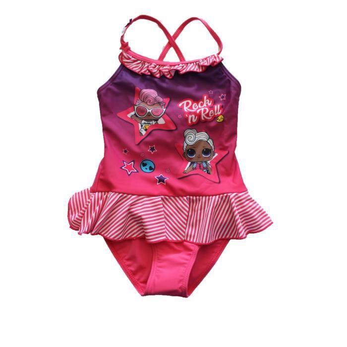 superbe maillot de bain lol surprise rose