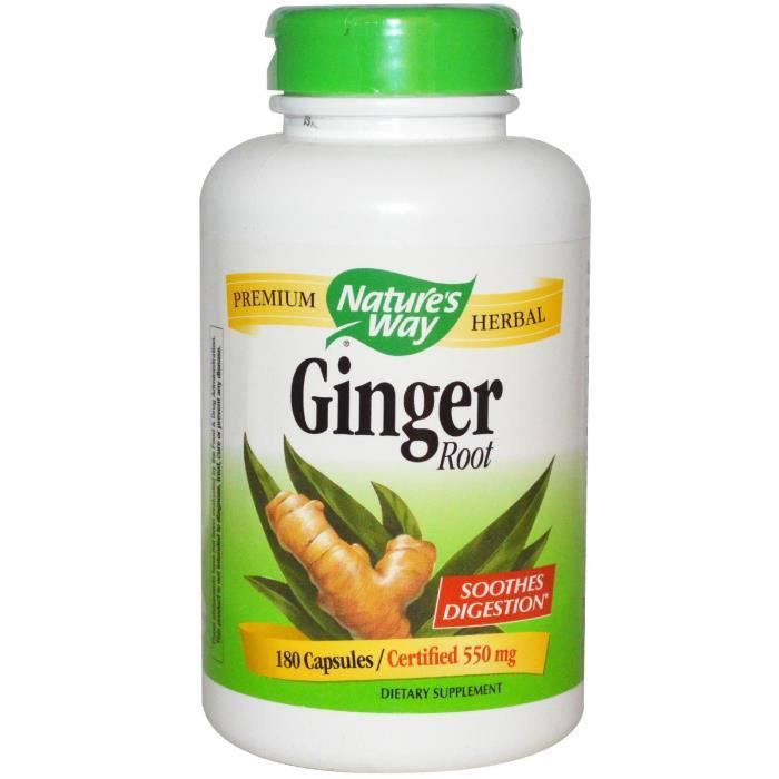 Nature Way, Ginger Root 550 mg, 180 Capsules