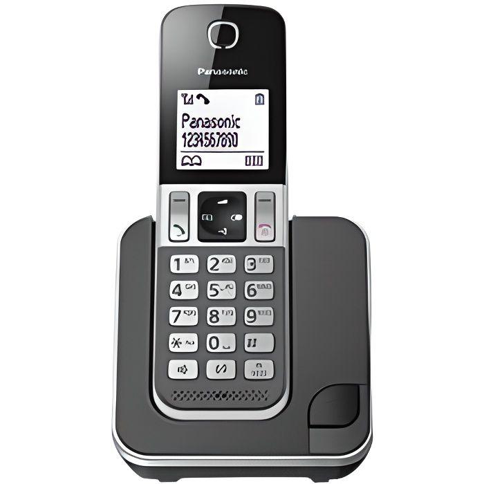 Panasonic KX-TGD310FRG Solo Téléphone sans fil sans Repondeur Noir