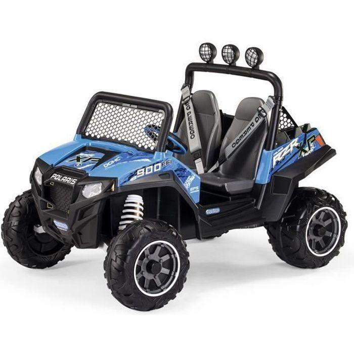 PEG PEREGO Voiture Electrique Enfant Buggy Polaris Ranger RZR 900 bleu, 2 places, 12 volts