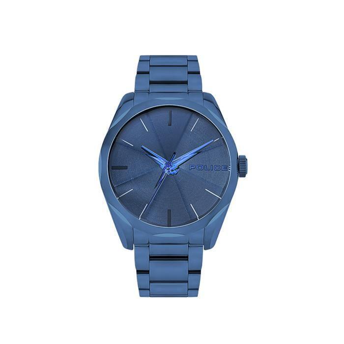 Police - Montre homme - PL.15712JSBL-03M - Bracelet acier bleu - Cadran bleu