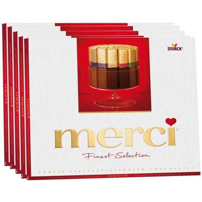 Storck Merci Große Vielfalt, chocolat, 5 paquets de 250 gr