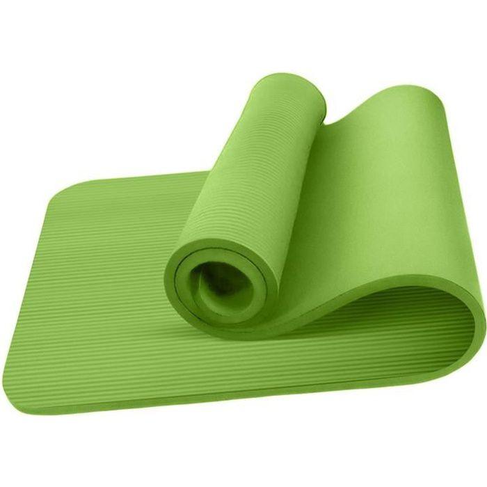 Tapis de Yoga Vert épais antidérapant pour sport fitness, gym, musculation, pilates