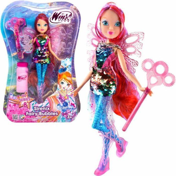 Bloom - Sirenix Fairy Bubbles Poupée - Winx Club - Fée 28 cm - Bulles de Savon