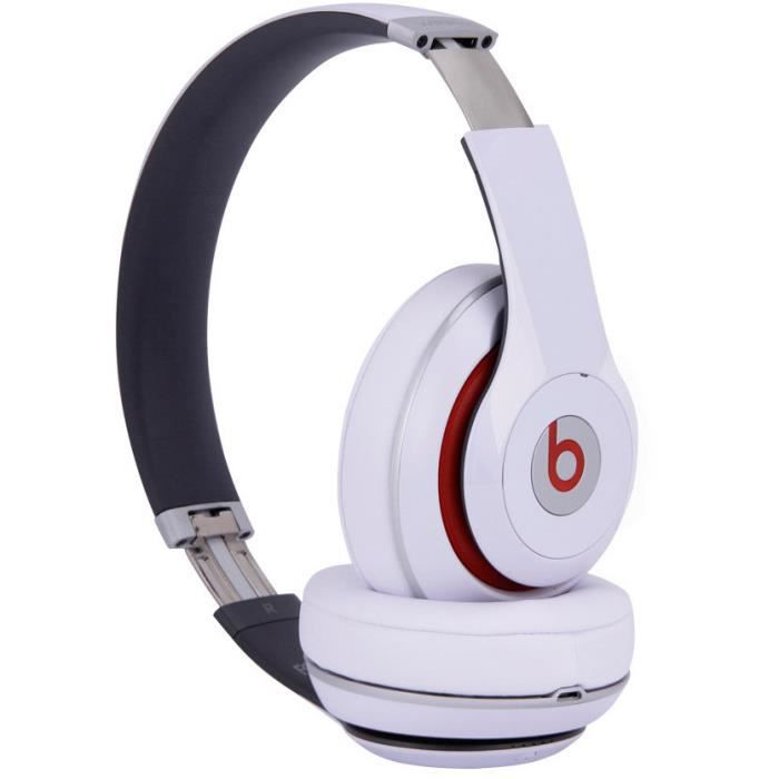 blanc casque headphones beats studio 2 0 sans fil bluetooth st r o casque couteur audio. Black Bedroom Furniture Sets. Home Design Ideas