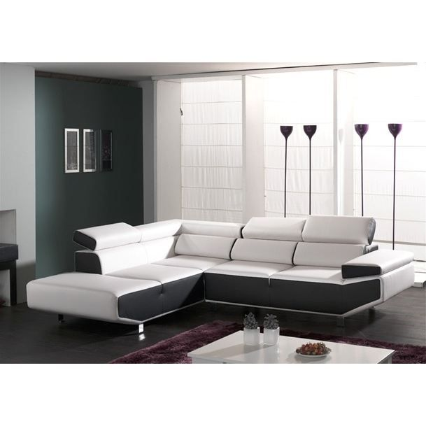 canape fly pu angle gauche achat vente canap sofa. Black Bedroom Furniture Sets. Home Design Ideas