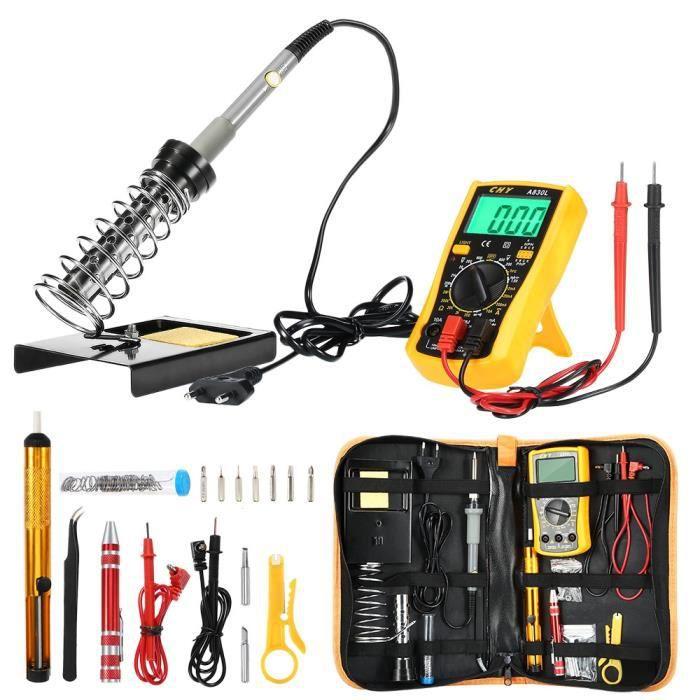 Fer à Souder Electrique Kit de Soudage 60W  Reparation Telephone Multimètre