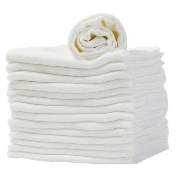 Mousselines Vêtements Blanc Pack De 12 60x60 cm