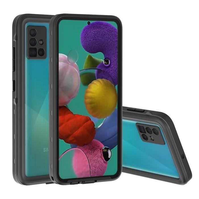 Molyqiu® Coque Étanche Samsung Galaxy A51 Imperméa