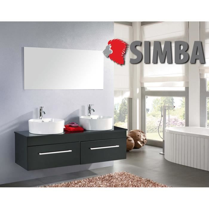 meuble salle de bain 150 cm noir set vasque robinetterie cardellino ensemble achat vente. Black Bedroom Furniture Sets. Home Design Ideas