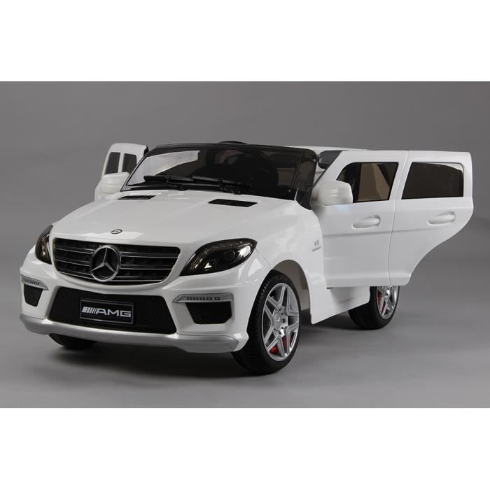 voiture 4x4 lectrique enfant mercedes ml63 blanche 12. Black Bedroom Furniture Sets. Home Design Ideas
