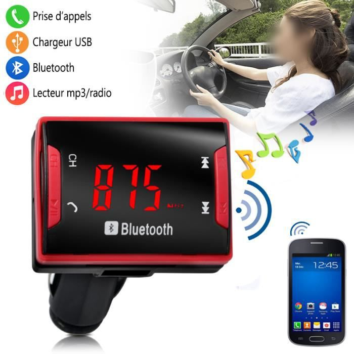 kit bluetooth main libre pour voiture chargeur rouge pour smartphone sony achat vente kit. Black Bedroom Furniture Sets. Home Design Ideas