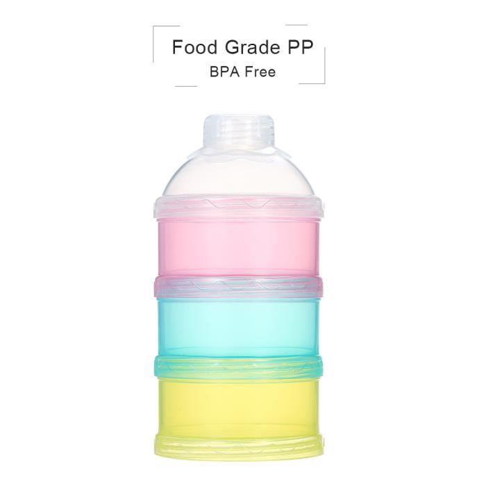 BPA Libre poudre de lait-Cuillère Grenouille violet 3 compartiments Poudre de lait Récipient