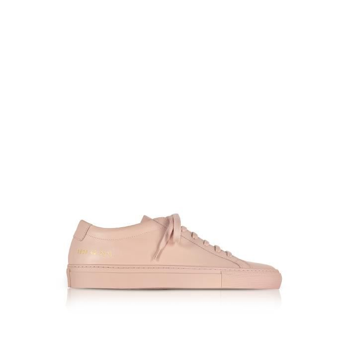 COMMON PROJECTS HOMME 15282015 ROSE CUIR BASKETS