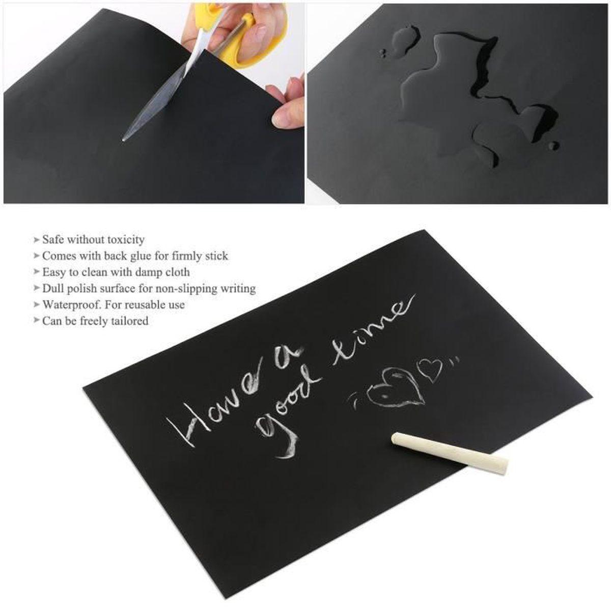 Feuille D Ardoise À Coller Prix alpexe® 8pcs a4 tableau noir ardoise sticker amovible