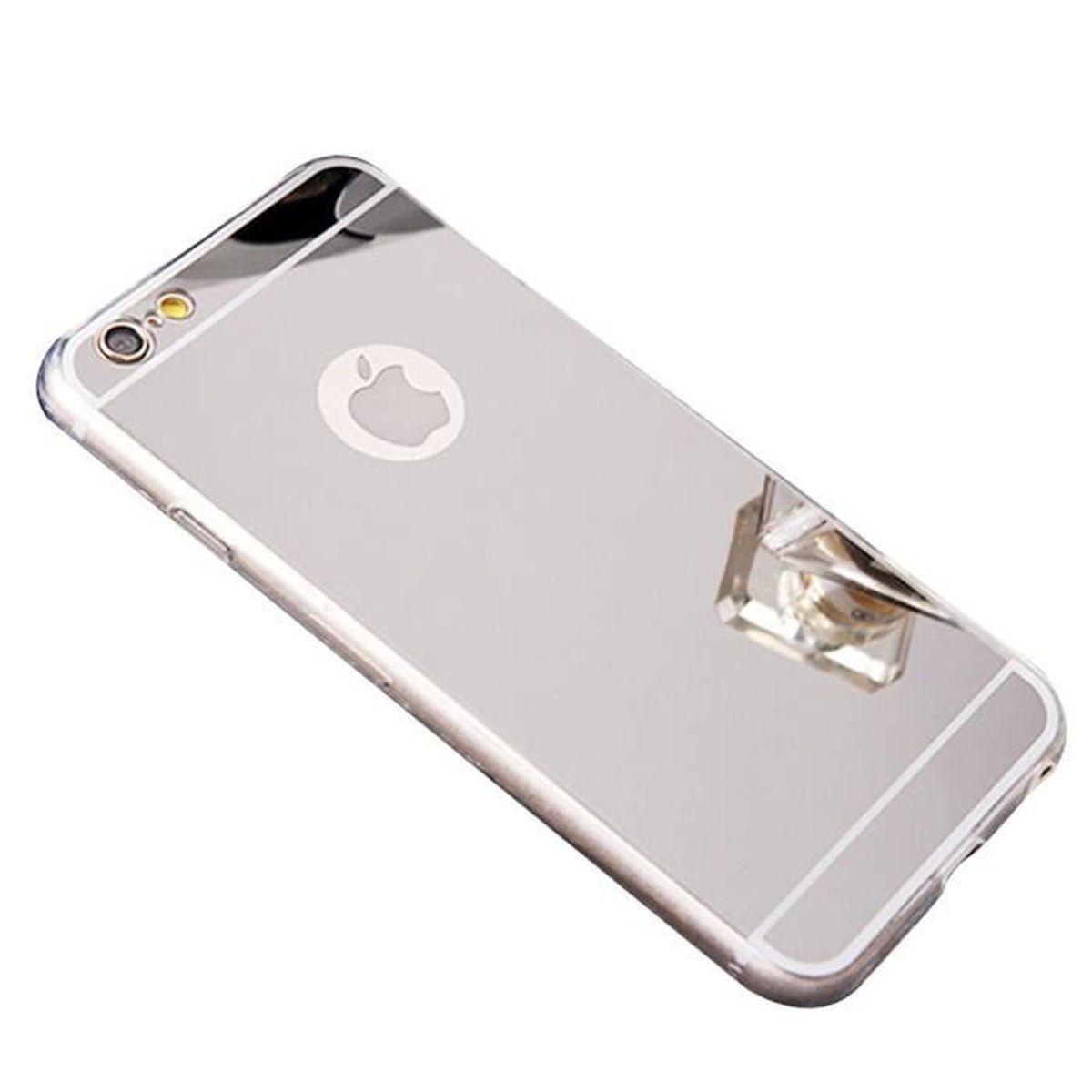 KESU® Coque iPhone 5S/5/SE effet Miroir Coloris Argent Etui Housse ...