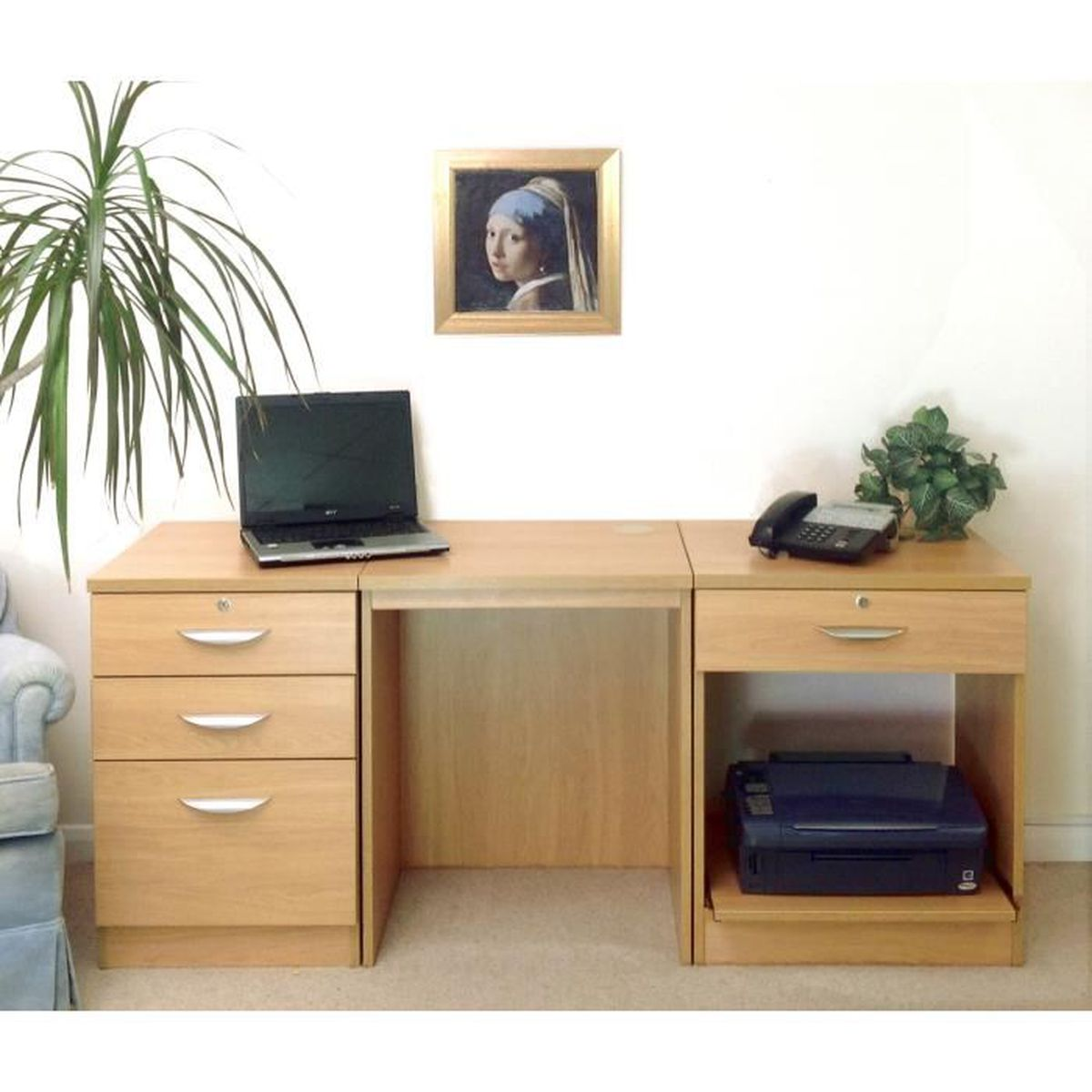 meuble de bureau en ch ne achat vente bureau meuble de bureau en ch ne les soldes sur. Black Bedroom Furniture Sets. Home Design Ideas