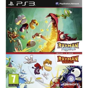 JEU PS3 Compil Rayman Legends + Origins Jeu PS3