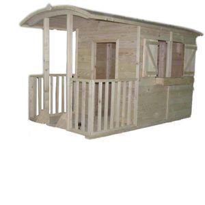 """MAISONNETTE EXTÉRIEURE Grande cabane en bois """"Marguerite"""""""