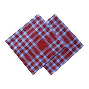 SERVIETTE DE TABLE Lot de 2 serviettes de table carreaux normands - r