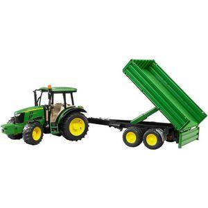 VOITURE - CAMION BRUDER - 02108 - Tracteur JOHN DEERE 5115M Remorqu
