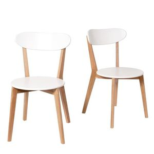 CHAISE Lot De 2 Chaises Design Scandinave Vitak Couleu