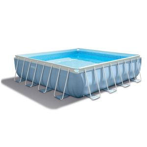 PISCINE Piscine tubulaire carrée 4,27 x 4,27 x 1,07 m - In