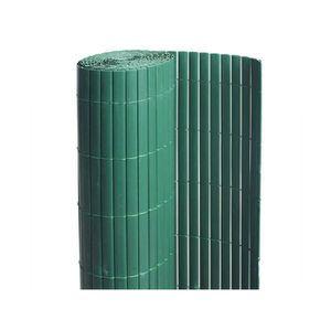 CLÔTURE - GRILLAGE Canisse PVC double face Vert 18 m - 6 rouleaux de