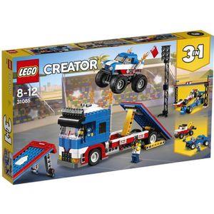 ASSEMBLAGE CONSTRUCTION LEGO® Creator 3-en-1 31085 Le spectacle des cascad