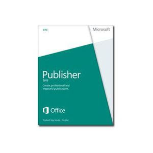 MULTIMÉDIA Microsoft Publisher 2013 - Licence - 1 PC - Win -…