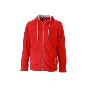 SWEAT-SHIRT DE SPORT Sweat-Shirt polaire Homme - ROUGE-GRIS ACIER, ... 3b3d7c7e32a