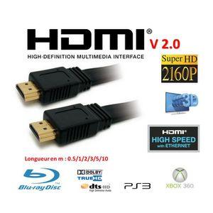 CÂBLE TV - VIDÉO - SON Cable HDMI 2.0V 2.00m noir