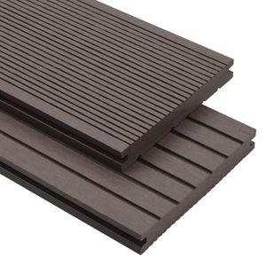 CLÔTURE - GRILLAGE Panneaux terrasse solides et accessoires WPC 10m²