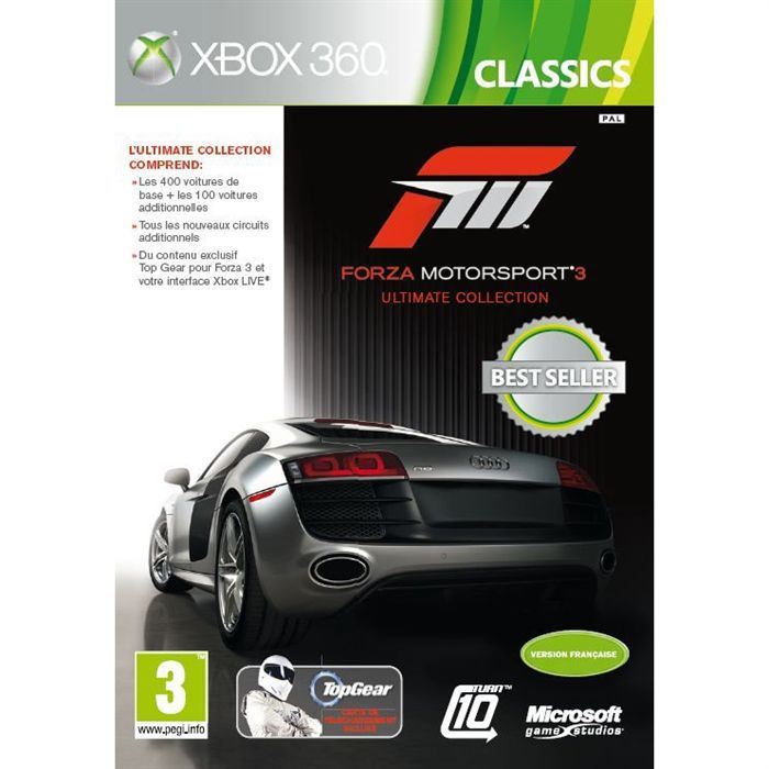 forza motorsport 3 ultimate jeu console xbox 360 achat vente jeux xbox 360 forza. Black Bedroom Furniture Sets. Home Design Ideas