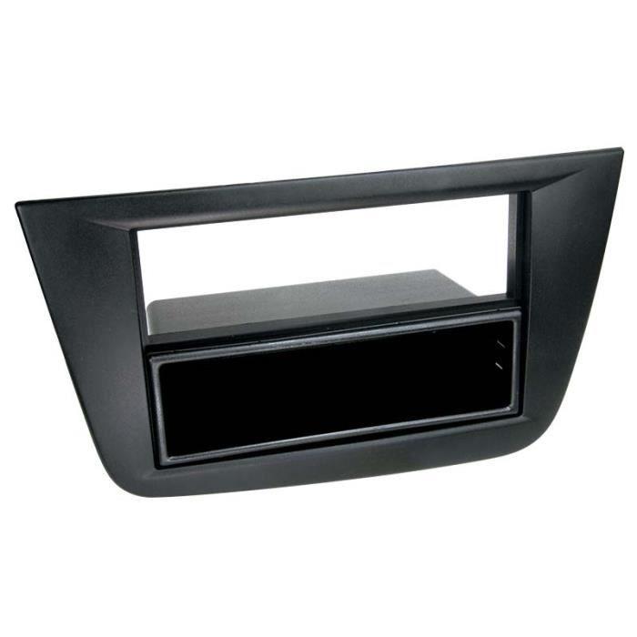 Adaptateur de façade 2-DIN avec vide poche Seat Altea / Altea XL / Toledo